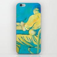 writer iPhone & iPod Skins featuring THE WRITER by Carola Ghilardi