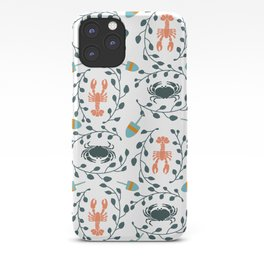 Lobster and Crab Motif iPhone Case