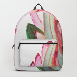 Protea in pink Backpack