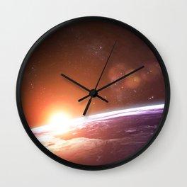Earth and Rising Sun Wall Clock