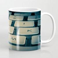 mac Mugs featuring Mac Keyboard by Mauricio Togawa