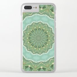 Succulent Mandala Clear iPhone Case