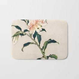 Lily Traditional Japanese Flora Bath Mat