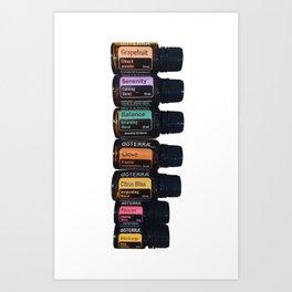 Essential oils holistic Art Print