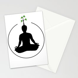 Meditation and ideas Stationery Cards