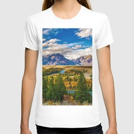 Snake River and Grand Tetons in Winter T-shirt