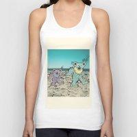 grateful dead Tank Tops featuring Grateful Dead Beach Cruise by Charlotte hills