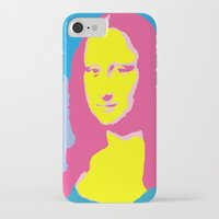 mona lisa iPhone & iPod Cases featuring Mona Lisa by Becky Rosen