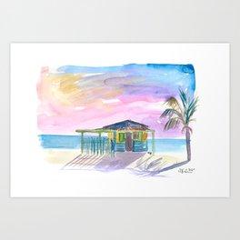 Caribbean Beach Bar House in Virgin Gorda Art Print