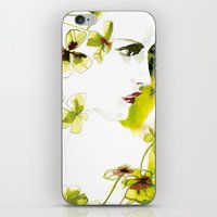 clover iPhone & iPod Skins featuring Clover by Ekaterina Koroleva