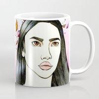 pocahontas Mugs featuring Pocahontas by An Bidault Terra