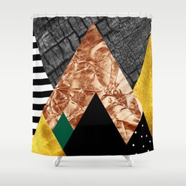 fall abstract triangle Shower Curtain