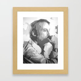 Saul Goodman (Black & White) Framed Art Print