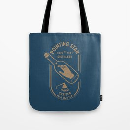 POINTING STAR HAND IN THE BOTTLE Tote Bag