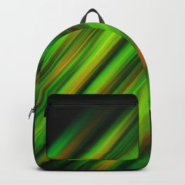 Colorful neon green brush strokes on dark gray Backpack