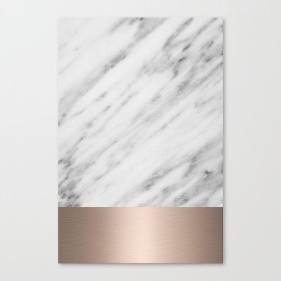 Carrara Italian Marble Holiday White Gold Edition Canvas Print