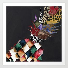 Pineapple Brocade II Art Print