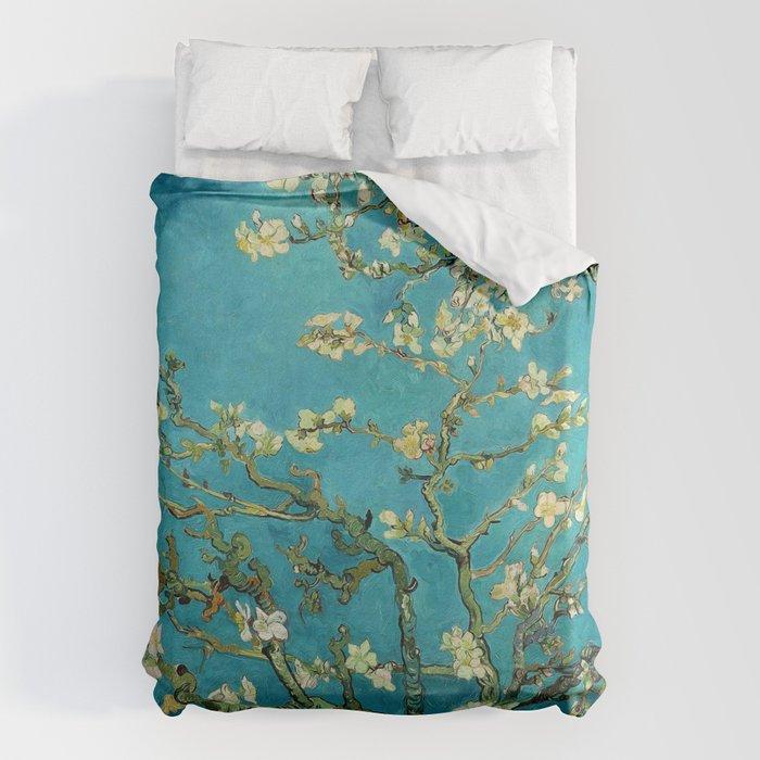 Vincent Van Gogh Blossoming Almond Tree Bettbezug