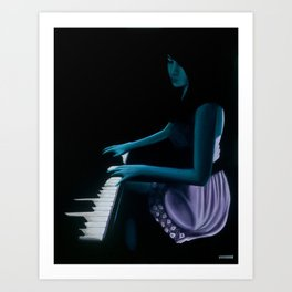 "‎""Silhouette cast from the depths""  Art Print"