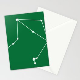 Libra (White & Olive Sign) Stationery Cards