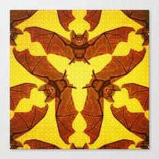 Geometric Bat Pattern - Golden version Canvas Print
