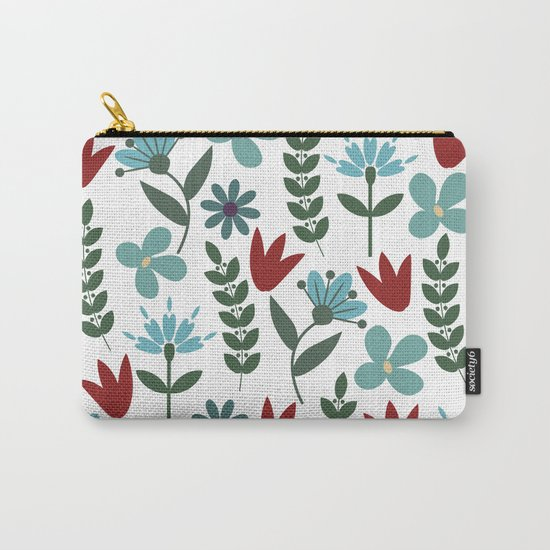 Flower Pattern VIII Carry-All Pouch