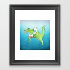 Swim Team Framed Art Print