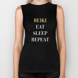 Reiki Eat Sleep Repeat Biker Tank