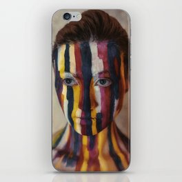 Woman With Colorful Painted Face iPhone Skin