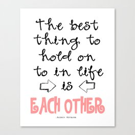 each other Canvas Print