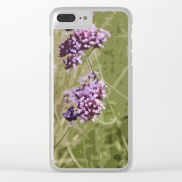 Pretty Verbena 2 - Abstraction Clear iPhone Case