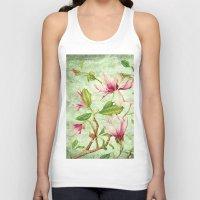 magnolia Tank Tops featuring Magnolia by CatDesignz