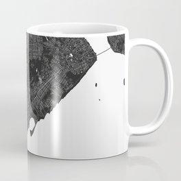 Staten Island New York Minimal Black Mono Street Map  Coffee Mug
