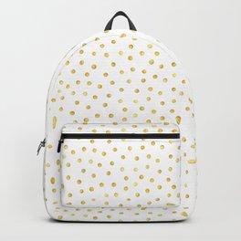 Medium Gold Watercolor Polka Dot Pattern Backpack