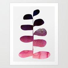Pink Ombre Plant Art Print