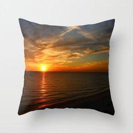 Fiery Evening Sky Throw Pillow