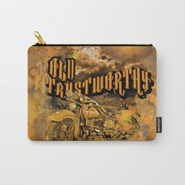 Old Trustworthy Vintage Motorcycle Carry-All Pouch