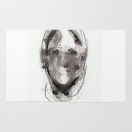 Woman With Head Wound Rug