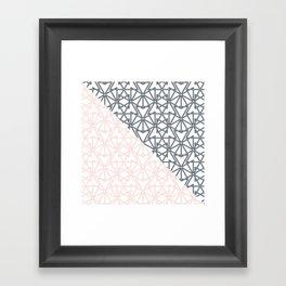 Black and Pink Crop Symmetry Framed Art Print