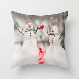 You have melted my cold, cold heart Throw Pillow