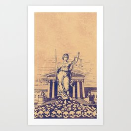 The Skulls of Justice Art Print