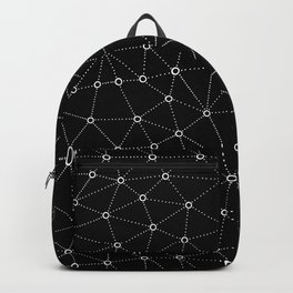 African Triangle Black Backpack