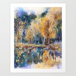 The Pond's Reflections Art Print