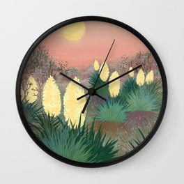 Succulents in twilight Wall Clock