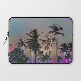 Analogue Glitch Palm Trees Sunset Laptop Sleeve