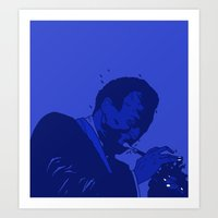 miles davis Art Prints featuring MILES DAVIS  by Dave P