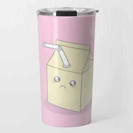 Don't Cry Over Spilt Milk #kawaii #milk Travel Mug