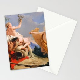 Oil Painting Apollo Pursuing Daphne by Giovanni Battista Tiepolo Stationery Cards