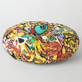 Monster Hello party Floor Pillow