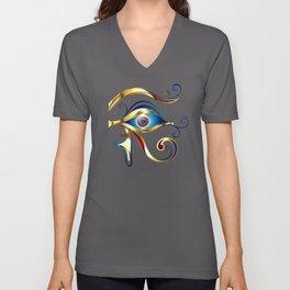 Gold Eye of Horus Unisex V-Neck